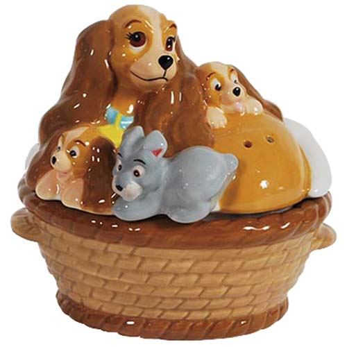 Lady and the Tramp Lady & Puppies Salt and Pepper Shaker Set