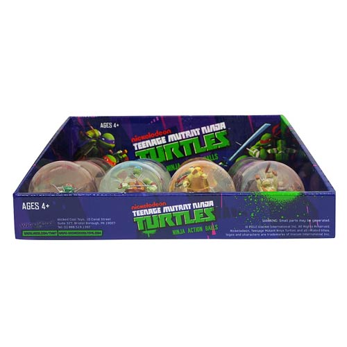 Teenage Mutant Ninja Turtles Ninja Action Balls Display Box