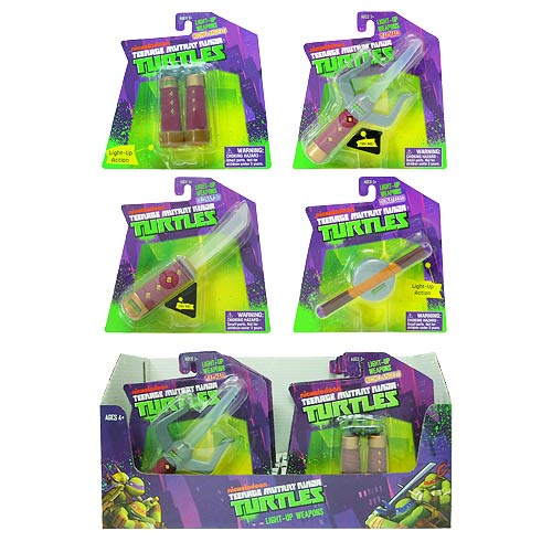 Teenage Mutant Ninja Turtles Light-Up Weapons Display Box