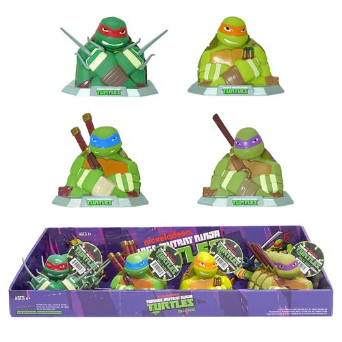 Teenage Mutant Ninja Turtles Ninja Bust Bank Display Box