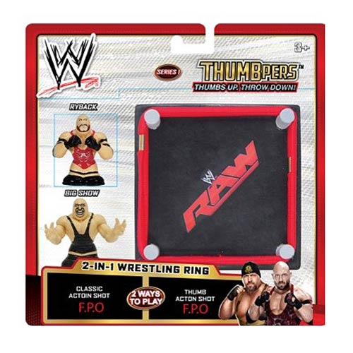 WWE ThumbPers Series 1 2-Pack Thumb Wrestlers and Ring Case
