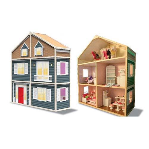 My Girl's Dollhouse Country French Wooden Play Set