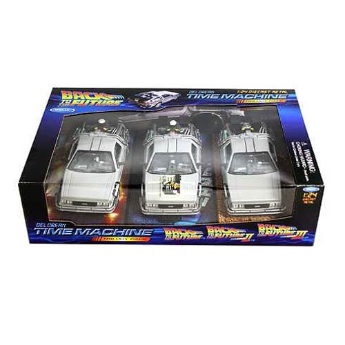 Back to the Future Trilogy DeLorean Die-Cast Vehicle 3-Pack