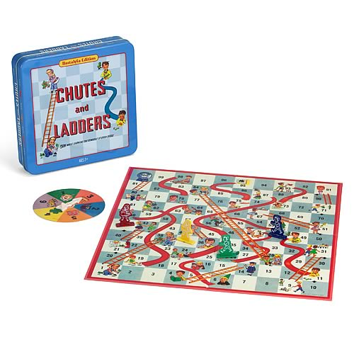 Chutes and Ladders Nostalgia Tin Board Game