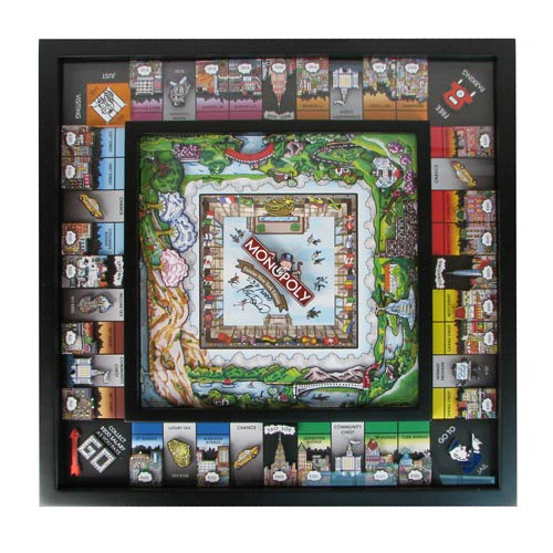 Monopoly 3D New York City Edition by Charles Fazzino