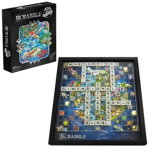 Scrabble 3D World Edition By Charles Fazzino