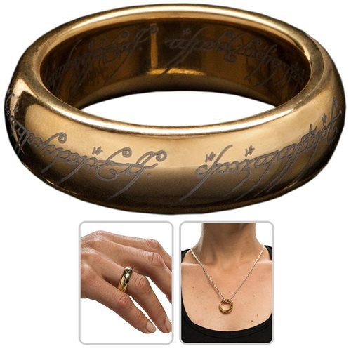 Lord of the Rings The One Ring Gold Plated Tungsten Ring
