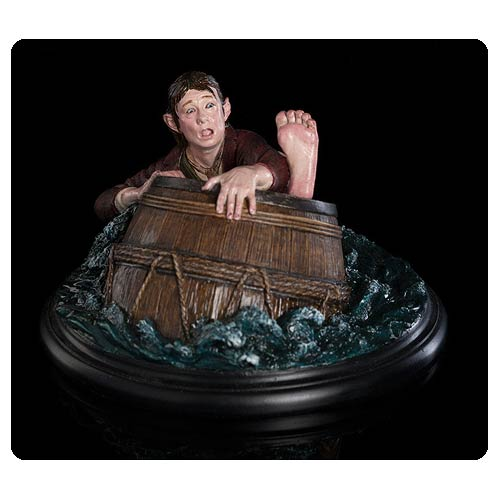 Hobbit Desolation of Smaug Bilbo Baggins Barrel Rider Statue