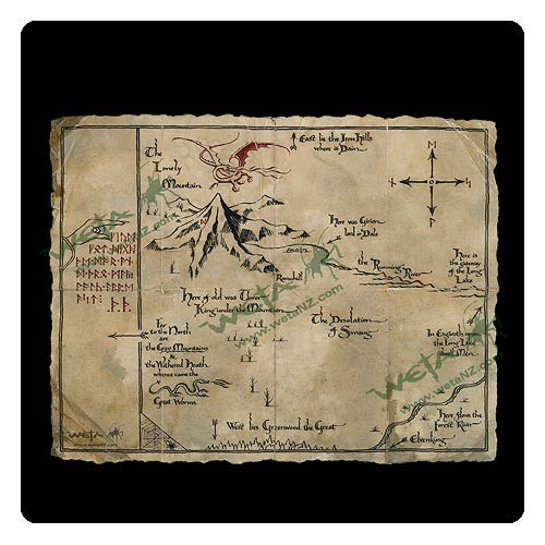 The Hobbit An Unexpected Journey Thorin's Map Art Print