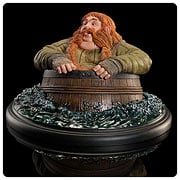 The Hobbit Desolation of Smaug Bombur Barrel Rider Statue