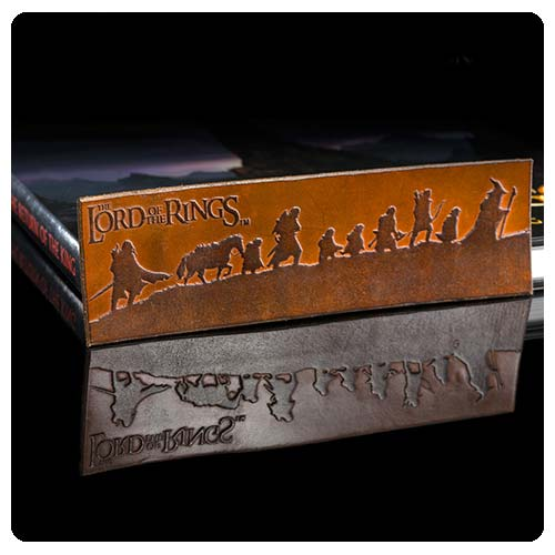 The Lord of the Rings Fellowship Silhouette Leather Bookmark