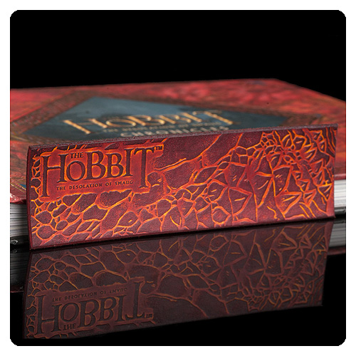 The Hobbit Desolation of Smaug Dragon Scale Leather Bookmark