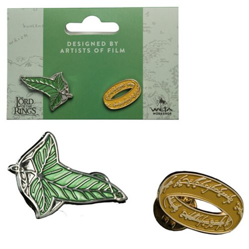 Lord of the Rings Elven Leaf and One Ring Collectible Pin Set