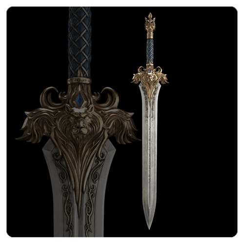 Warcraft King Llanes Sword 1:1 Scale Prop Replica, Not Mint