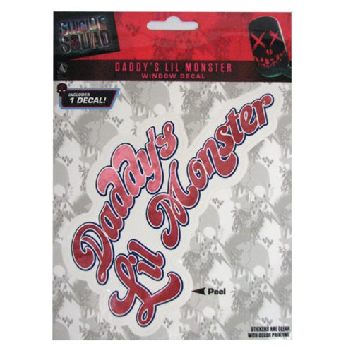Suicide Squad Daddy's Little Monster Decal