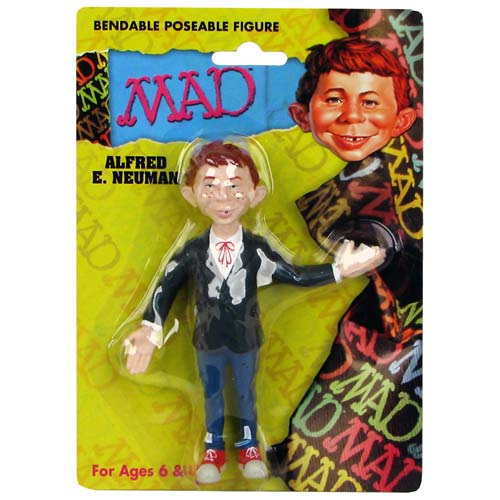 Mad Magazine Alfred E. Neuman Bendable Figure