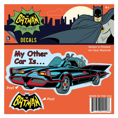 Batman Classic 1966 TV Series My Other Car Decal
