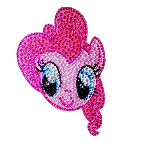 My Little Pony Pinkie Pie Face Crystal Studded Decal