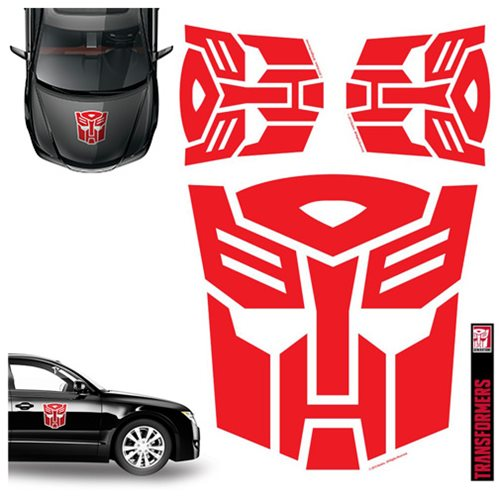 Transformers Autobots Red Car Graphics Set - Elephant Gun ...