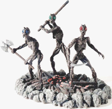 12 inch Three Ghouls Statue