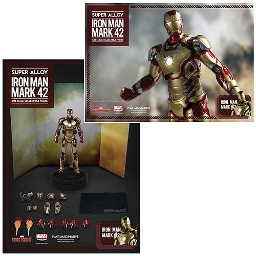 Iron Man 3 Mark 42 Super Alloy 1:12 Light-Up Figure