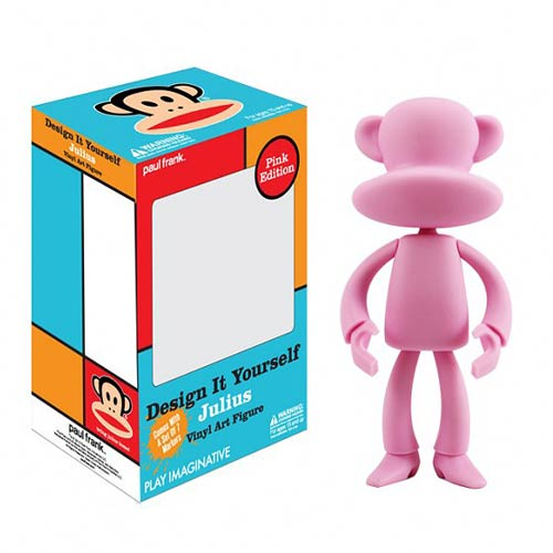 Paul Frank DIY Pink Version Julius Vinyl Art Figure