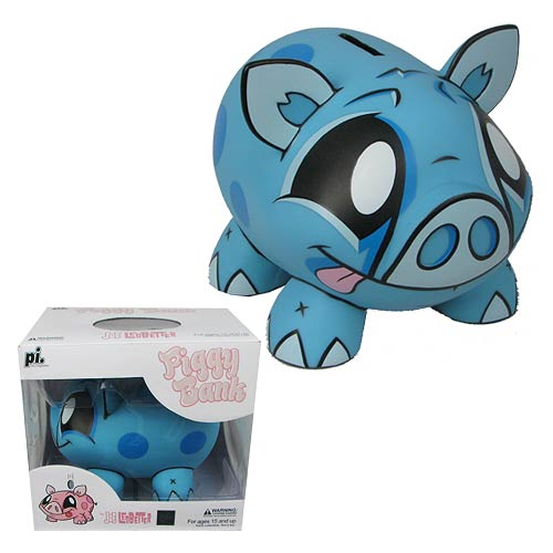 Joe Ledbetter Blue Piggy Bank Designer Vinyl Figure