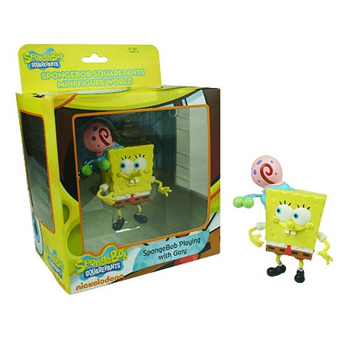 SpongeBob SquarePants SpongeBob Playing with Gary Figure