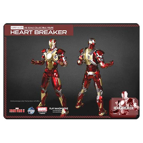 Iron Man 3 Mark 17 Heartbreaker 1:4 Die-Cast Light-Up Figure