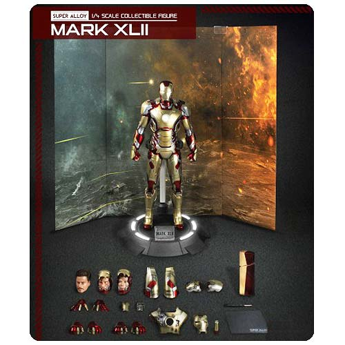 Iron Man 3 Mark 42 Super Alloy 1:4 Die-Cast Light-Up Figure