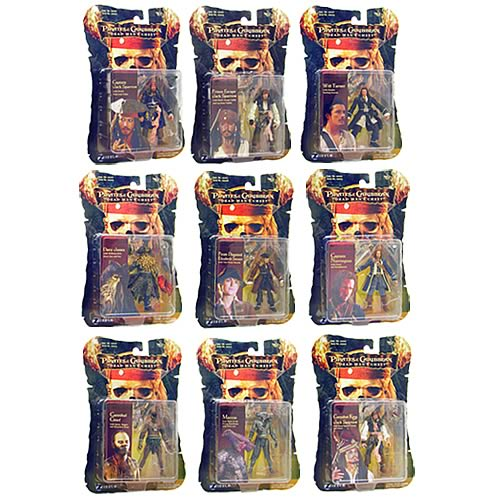 Pirates 2 Action Figures 3 3/4-Inch Wave 1 Case