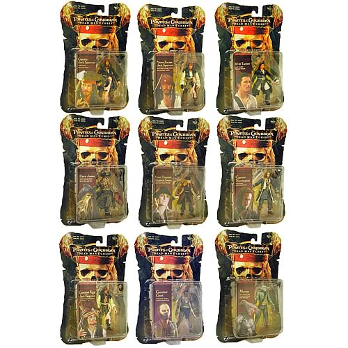 Pirates 2 Action Figures 3 3/4-Inch Wave 2 Case