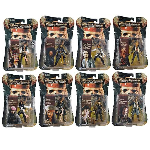 Pirates 2 Action Figures 3 3/4-Inch Wave 3 Case
