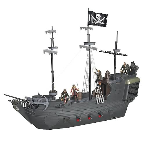 Pirates of the Caribbean Electronic Black Pearl Ship Playset