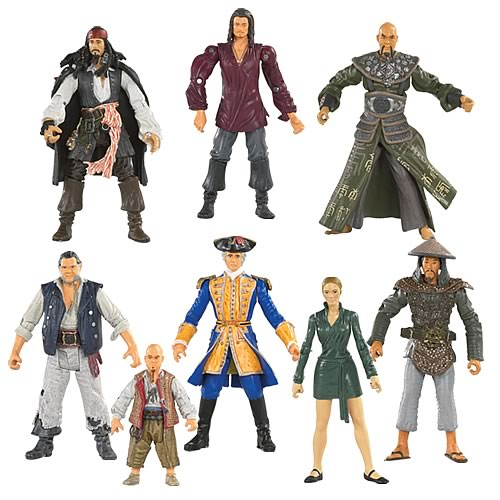 Pirates 3 Action Figures 3 3/4-Inch Wave 1 Rev. 1 Case
