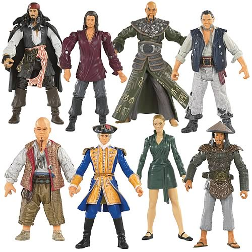 Pirates 3 Action Figures 3 3/4-Inch Wave 1 Case