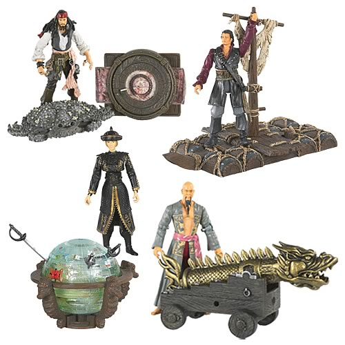 Pirates 3 Deluxe Action Figures 3 3/4-Inch Wave 1 Case
