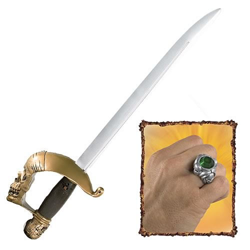Pirates 3 Jack Sparrow's Sensor Sword and Pirate Ring
