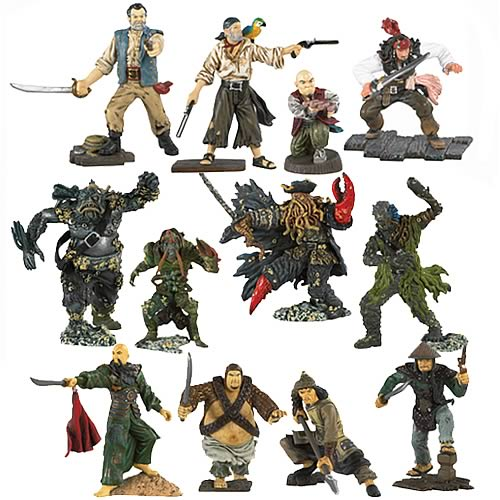 Pirates 3 Pirate Captain & Crew Figures Wave 1