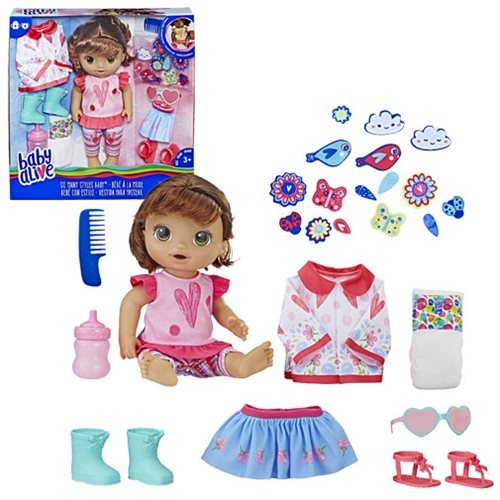 Baby Alive So Many Styles Baby Doll - Brown Straight Hair