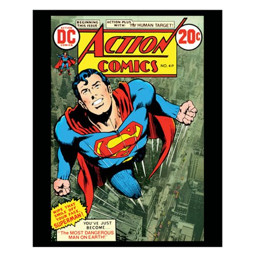 Superman Flying in the Sky Comic Cover Canvas Print