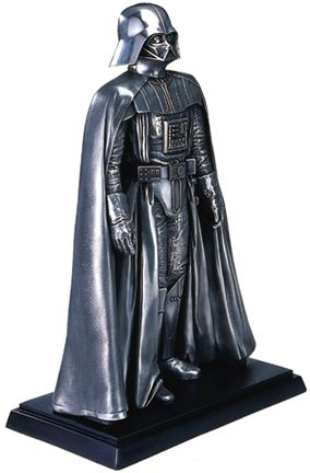 Metallic Darth Vader Sculpture