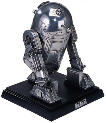Metallic R2-D2 Sculpture