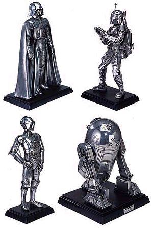 Star Wars Metallic Sculptures