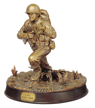 Bronze D-Day Sculpture