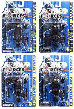 4in. Modern SWAT Figure Case