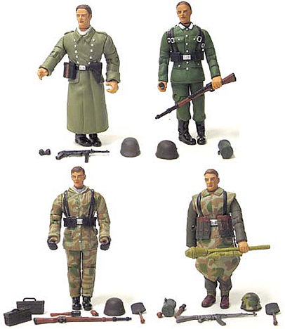 4in. WWII Action Figure 4-Pack