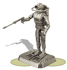 Pewter Navy Frogman