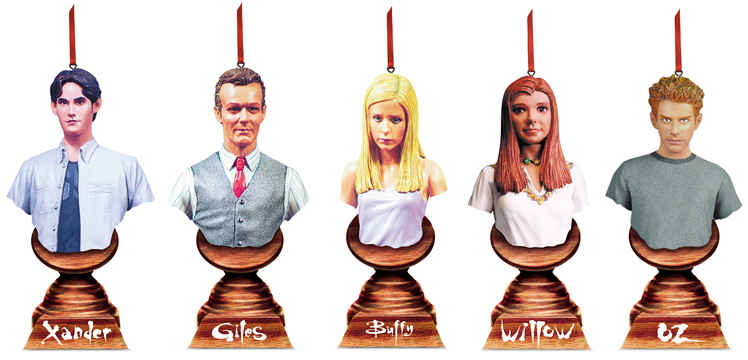 Buffy Christmas Ornaments Set