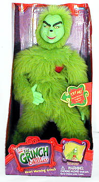 Plush Heart Warming Grinch